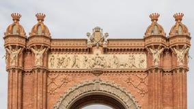 Triumph Arch in Barcelona. Spain Stock Image