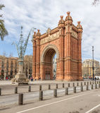 Triumph Arch in Barcelona. Spain Stock Images