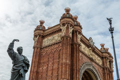 Triumph Arch in Barcelona Royalty Free Stock Photos