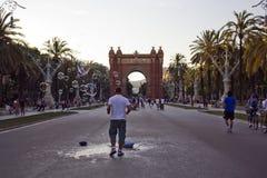 Triumph Arch in Barcelona, Spain. Triumph Arch in Barcelona, Barcelona, spain Royalty Free Stock Photography