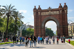 Triumph Arch in Barcelona, Spain. Summer holiday Stock Photography
