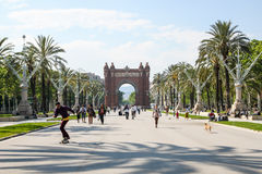 Triumph Arch in Barcelona, Spain Royalty Free Stock Image