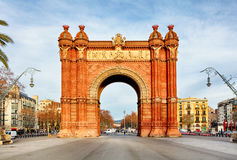 Triumph Arch of Barcelona in a summer day in Barcelona, Spain.  Royalty Free Stock Photo