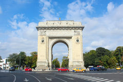 Triumph Arch in Bucharest Romania Royalty Free Stock Photo