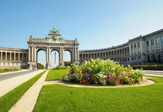Cinquantennaire Parc in Brussels Royalty Free Stock Image