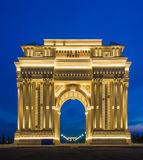 Triumph Arch  on February 15 in Azerb. Ganja - FEBRUARY 15, 2014: Triumph Arch  on February 15 in Azerbaijan, Ganja. Triumph Arch is popular city attraction Royalty Free Stock Photos