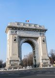 Triumph Arch - landmark in Bucharest Stock Images