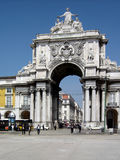 Triumph Arch in Lisbon Stock Photos