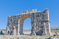 Triumph Arch located at Volubilis, Morocco Royalty Free Stock Photos