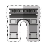 Triumph arch monument icon Stock Images