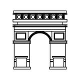 Triumph arch monument icon Royalty Free Stock Photos