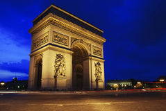 Triumph Arch at night Royalty Free Stock Photos