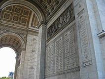 The Triumph Arch Paris Stock Photography