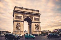 Triumph arch paris Stock Photo