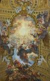 Triumph av namnet av Jesus, kyrka av Gesuen, Rome, Italien arkivbilder