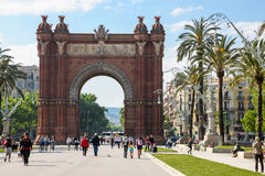 Triumph båge i Barcelona, Spanien Royaltyfri Foto