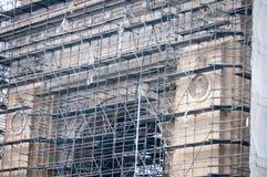Triumph båge i renoveringar Arkivfoton