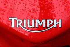 Triumph bike tank Royalty Free Stock Image