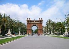 Triumph-Bogen, Barcelona, Spanien Lizenzfreies Stockfoto
