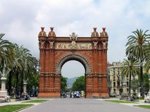 Triumph-Bogen, Barcelona, Spanien Lizenzfreies Stockbild