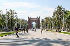 Triumph-Bogen in Barcelona, Spanien Lizenzfreies Stockbild
