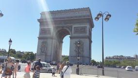 Triumph Bogen Paris stockfotos