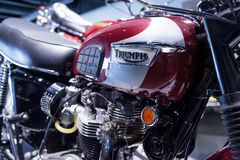 1970 Triumph Bonneville T120RT motorcycle Royalty Free Stock Photography
