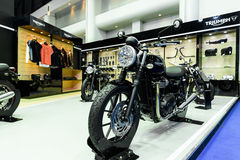 Triumph booth on display at The 37th Bangkok International Motor Show Royalty Free Stock Photography
