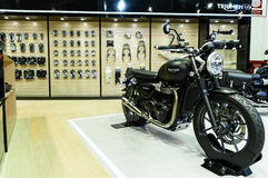 Triumph booth on display at The 37th Bangkok International Motor Show Stock Photography