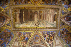 Triumph of Christianity over Paganism. Vatican Museum painted (on the ceiling) by Tommaso Siciliano Stock Image