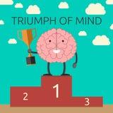 Triumph da mente Imagem de Stock