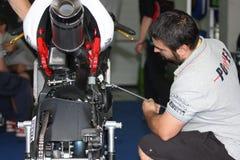 Triumph Daytona 675 Power Suriano royalty free stock photography