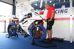 Triumph Daytona 675 Power team by Suriano Stock Images