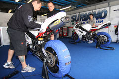 Triumph Daytona 675 Power Team by Suriano WSS Royalty Free Stock Photo
