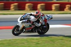 Triumph Daytona racing Royalty Free Stock Photos