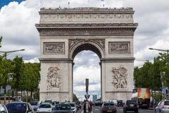 Triumph-de Weg Parijs van Boogchamps Elysees Stock Foto's