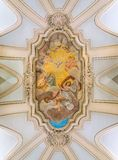 """""""Triumph dell'affresco degli incroci nella chiesa di Santa Maria Annunziata in Borgo Belle vecchie finestre a Roma (Italia) fotografie stock libere da diritti"""