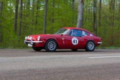 1968 Triumph GT 6 en el ADAC Wurttemberg Rallye histórico 2013 Foto de archivo libre de regalías