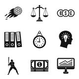 Triumph icons set, simple style. Triumph icons set. Simple set of 9 triumph vector icons for web isolated on white background Royalty Free Stock Image