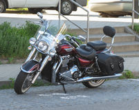 Triumph motorcycle parked in Brno Royalty Free Stock Photo