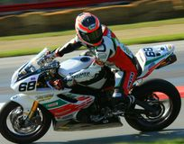 Triumph motorcycle racing Stock Photo