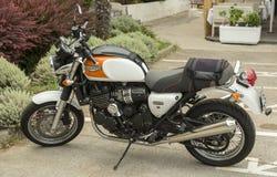 Triumph motorcykel Arkivfoto
