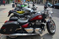 Triumph-Motorfietsen Royalty-vrije Stock Fotografie