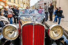 Triumph on the rally of vintage cars in Krakow, Poland Stock Photos