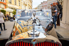 Triumph on the rally of vintage cars in Krakow, Poland Royalty Free Stock Images