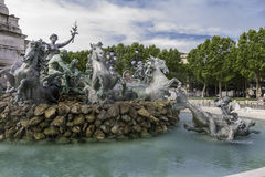 Triumph of the republic fountain. Burdeaux, France Royalty Free Stock Photography