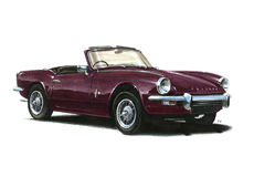 Triumph Spitfire Mk3 Royalty Free Stock Photography