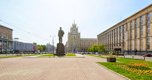 Triumph Square (Triumfalnaya Ploshchad) in Moscow Royalty Free Stock Photos