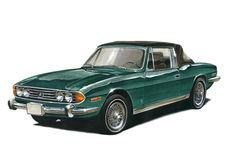 Triumph Stag royalty free illustration