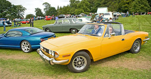 Triumph Stag at Ripley Castle. Stock Photos